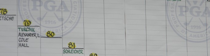 2013 PGA PNC Day 1 Score Board