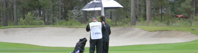 2013 PGA PNC Day 2 Contemplating the Next Shot in the Rain
